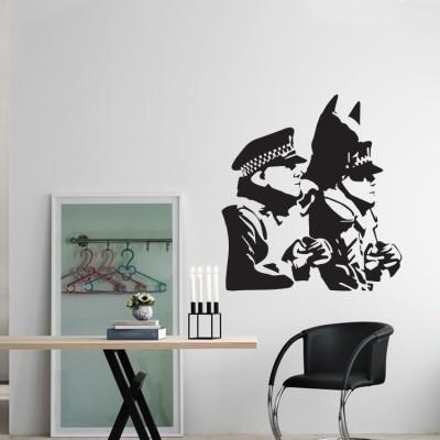 Batman and the police, Banksy, Αυτοκόλλητα τοίχου