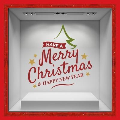 Have A Merry Christmas & Happy New Year, Χριστουγεννιάτικα, Αυτοκόλλητα βιτρίνας