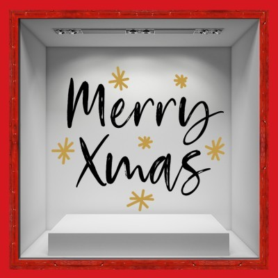 Merry Xmas, Χριστουγεννιάτικα, Αυτοκόλλητα βιτρίνας