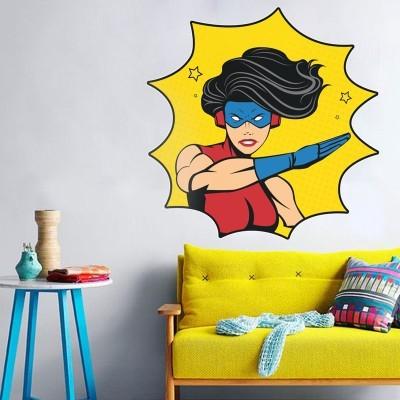 Slap woman superhero, Κόμικς, Αυτοκόλλητα τοίχου