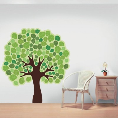 Πράσινο δέντρο, Δέντρα - Λουλούδια, Αυτοκόλλητα τοίχου