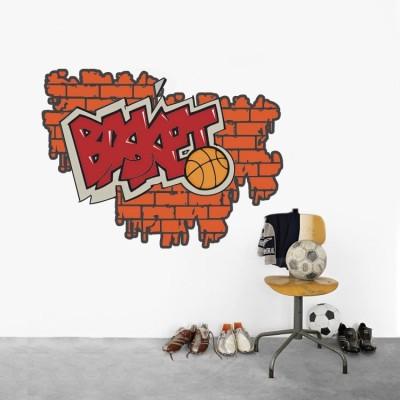 Γκράφιτι Basket, Street art, Αυτοκόλλητα τοίχου