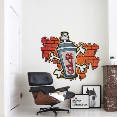 Color Σπρέι, Street art, Αυτοκόλλητα τοίχου