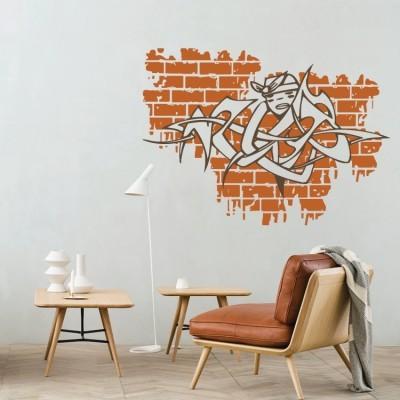 Γκράφιτι στο τούβλο, Street art, Αυτοκόλλητα τοίχου