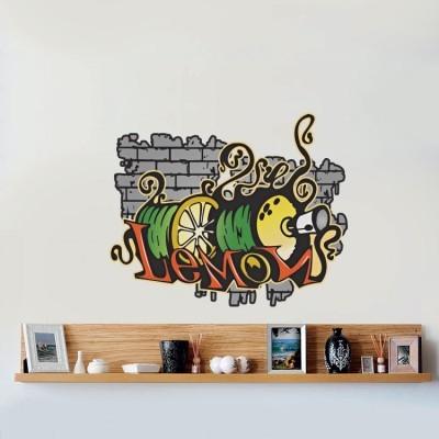 Lemon Γκράφιτι, Street art, Αυτοκόλλητα τοίχου