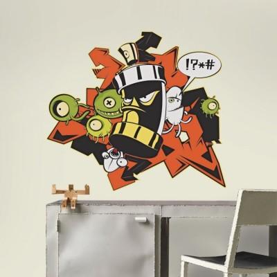 Γκράφιτι Angry Spray, Street art, Αυτοκόλλητα τοίχου