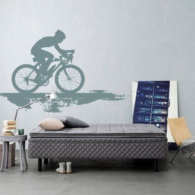 Ποδηλάτης σε δρόμο, Σπορ, Αυτοκόλλητα τοίχου