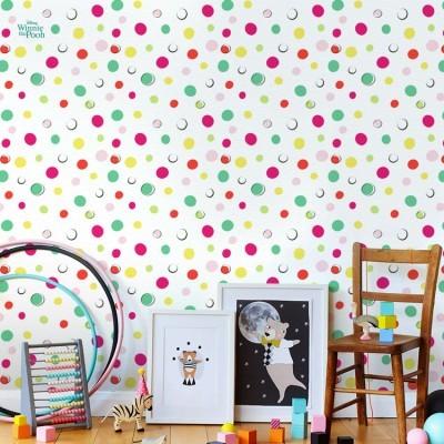 Polka dots, Winnie the Pooh, Παιδικά, Ταπετσαρίες Τοίχου