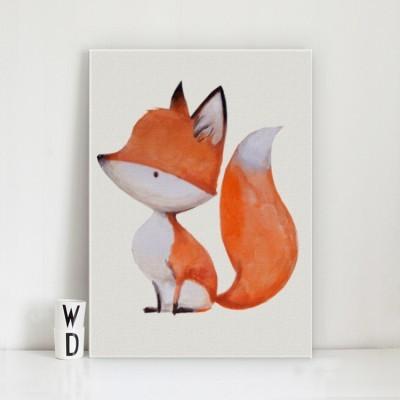Μικρή αλεπού, Παιδικά, Πίνακες σε καμβά
