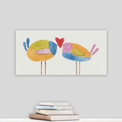 Ερωτευμένα πουλάκια, Παιδικά, Πίνακες σε καμβά