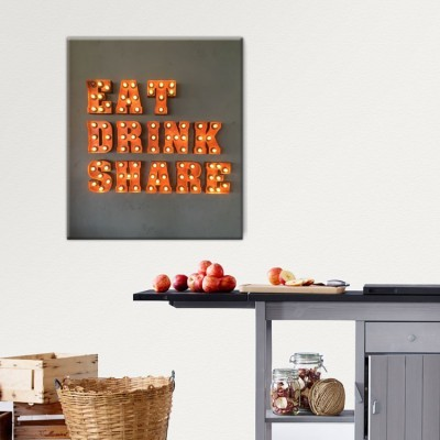 Eat Drink Share, Φαγητό, Πίνακες σε καμβά