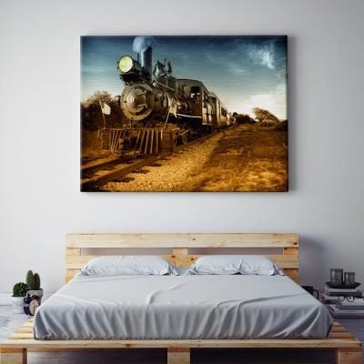 Ατμομηχανή, Vintage, Πίνακες σε καμβά