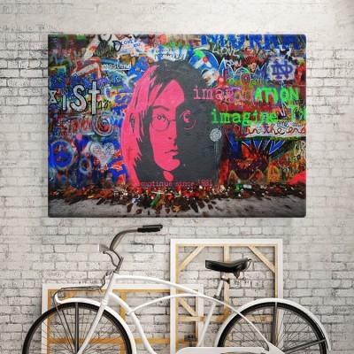 John Lenon, Street art, Πίνακες σε καμβά