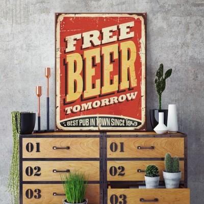Free Beer Tomorrow, Διάφορα, Πίνακες σε καμβά