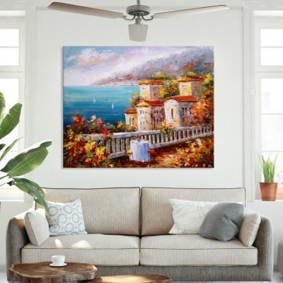 Ελαιογραφία,  Θέα στη Θάλασσα, Ελλάδα, Πίνακες σε καμβά