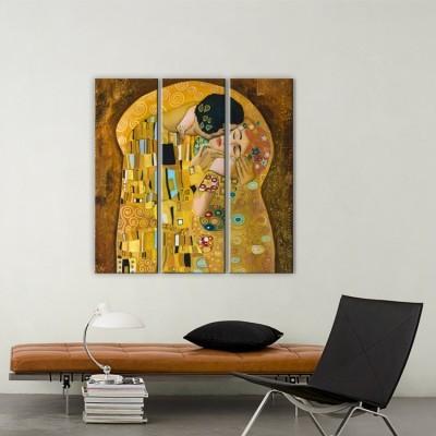 Το φιλί, Klimt, Ζωγραφική, Multipanel