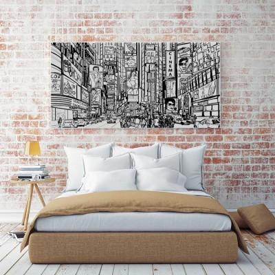 Ασπρόμαυρη Πόλη, Κόμικς, Πίνακες σε καμβά