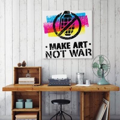 Make Art Not War, Κόμικς, Πίνακες σε καμβά
