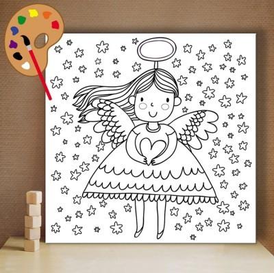Νεράιδα, Μικροί ζωγράφοι DIY, Πίνακες σε καμβά