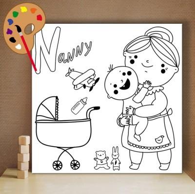 Γιαγιά, Μικροί ζωγράφοι DIY, Πίνακες σε καμβά