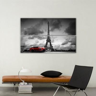 Kόκκινο αυτοκίνητο, Πύργος του Άιφελ, Πόλεις - Ταξίδια, Multipanel