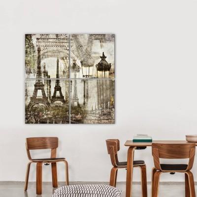 Παρίσι, Vintage, Multipanel