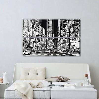 Ασπρόμαυρη Νέα Υόρκη, Κόμικς, Multipanel