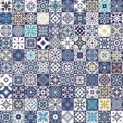 Μπλε ρετρό μοτίβο, Μοτίβα, Image Gallery