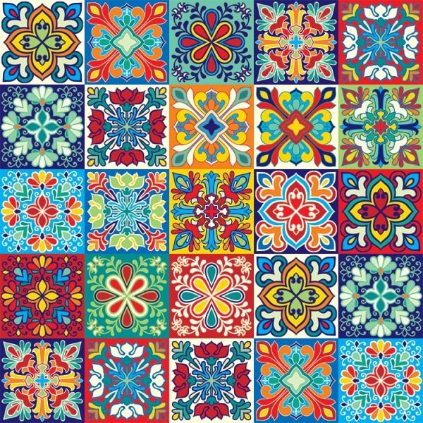 Floral πολύχρωμο μοτίβο