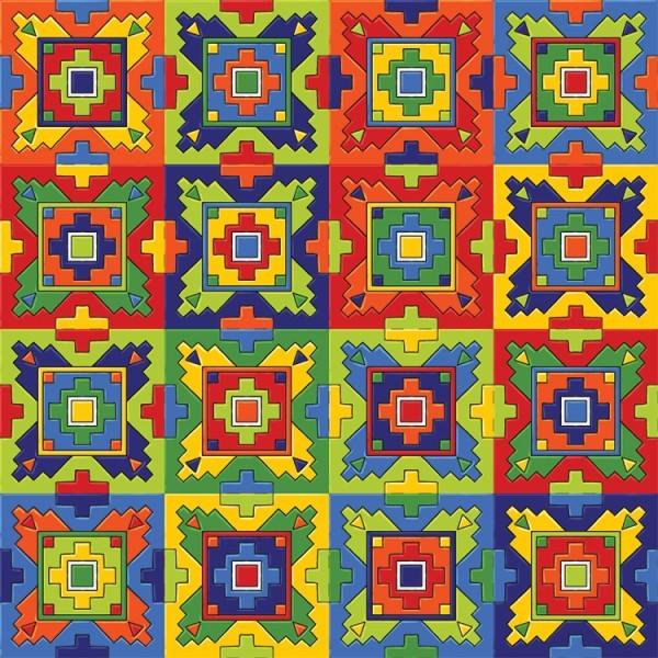 Colurful ceramic tiles