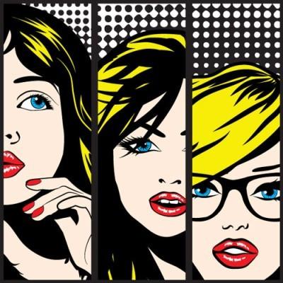 Pop art Πρόσωπα, Κόμικς, Image Gallery