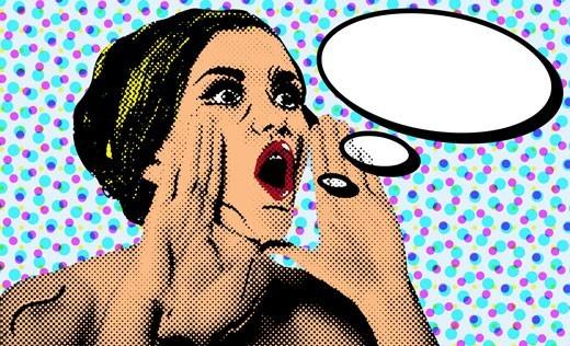 Γυναίκα που φωνάζει