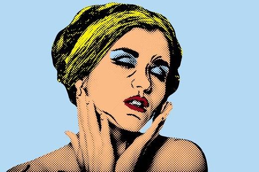 Όμορφη γυναίκα με κλειστά μάτια