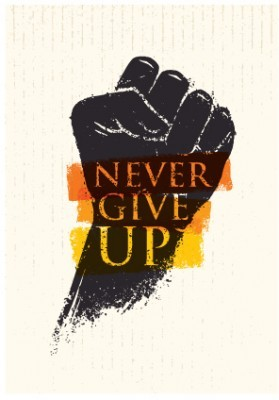 Never Give Up, Φράσεις, Image Gallery