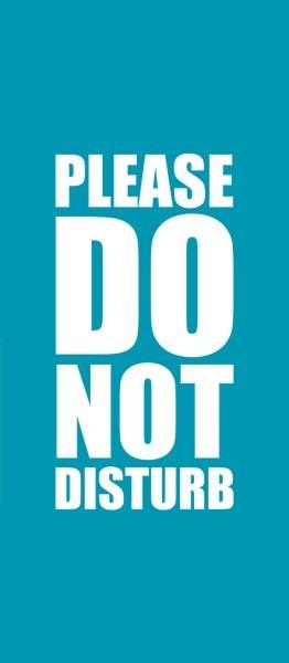Μην ενοχλείτε μπλε