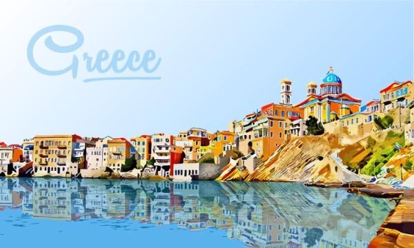Σκίτσο από ελληνικό νησί