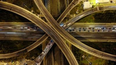 Αεροφωτογραφία  οδικού κόμβου, Πόλεις - Ταξίδια, Image Gallery