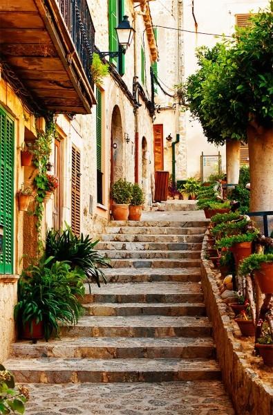 Σκαλοπάτια στο χωριό