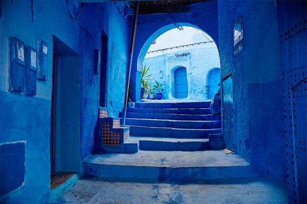 Μπλε νησιώτικο φόντο