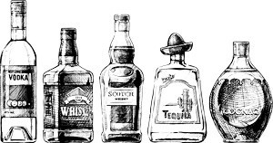 Ασπρόμαυρη Εικόνα με Μπουκάλια
