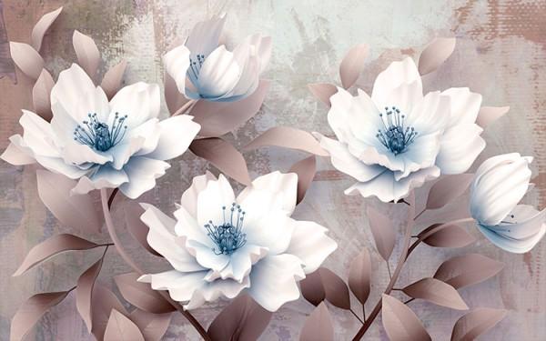 Γαλανόλευκο λουλούδι