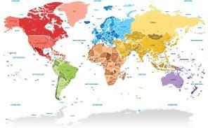 Πολύχρωμος Παγκόσμιος Χάρτης, Πόλεις - Ταξίδια, Image Gallery