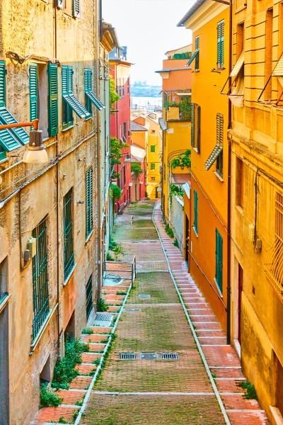 Στενάκι πεζόδρομου της Ιταλίας