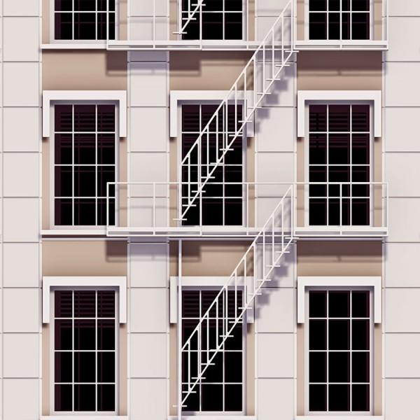 Σκάλες έξω από την πολυκατοικία της Νέας Υόρκης