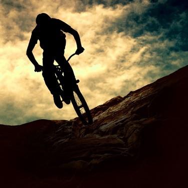 Φιγούρα ανθρώπου με ποδήλατο