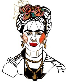 Frida Illustration, Vintage, Image Gallery
