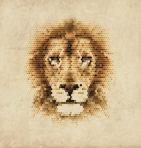 Λιοντάρι pixel art