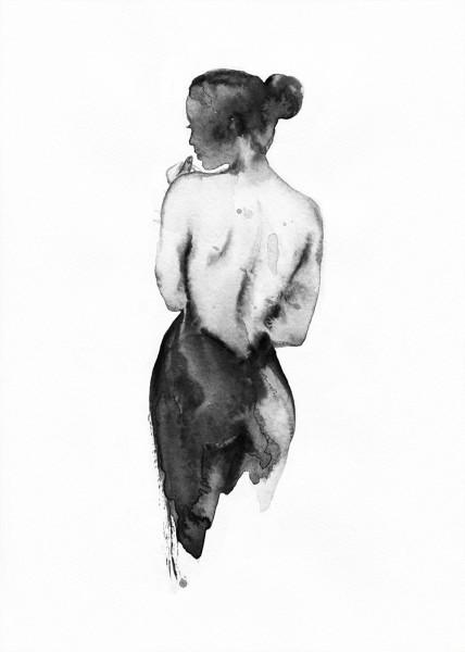 Γυμνή πλάτη κοπέλας
