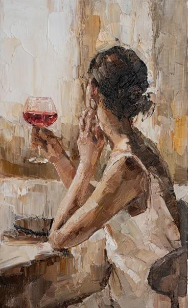 Γυναίκα με κρασί