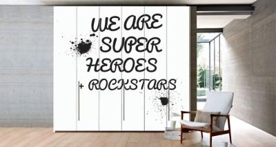 Super Heroes, Φράσεις, Αυτοκόλλητα ντουλάπας